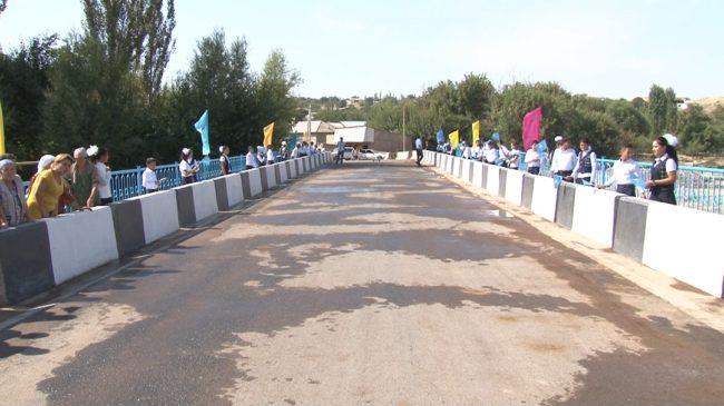 Новый мост в Казгуртском районе