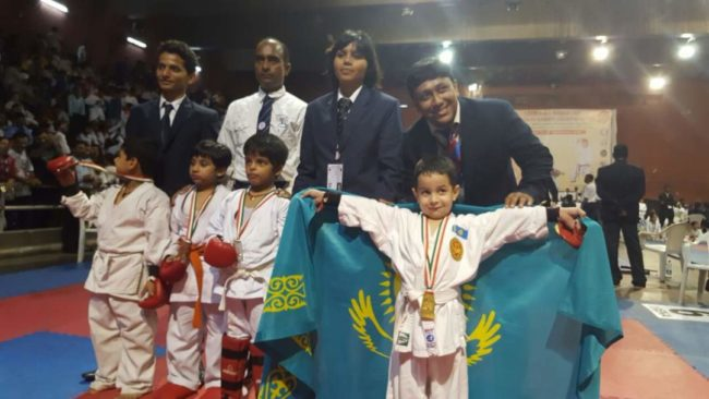 Шестилетний каратист из Шымкента стал чемпионом мира