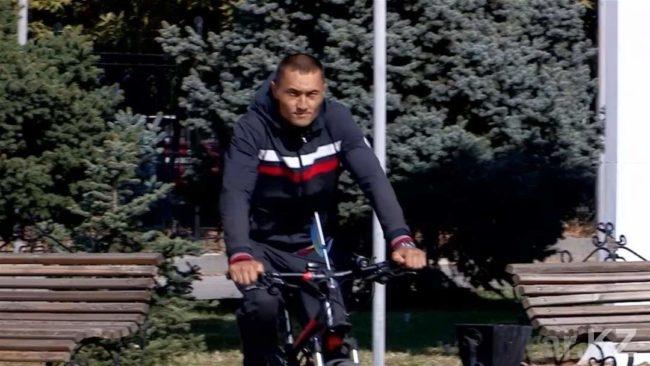 Офицер из Шымкента приехал в Астану