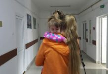 Виола Балан с мамой в больнице