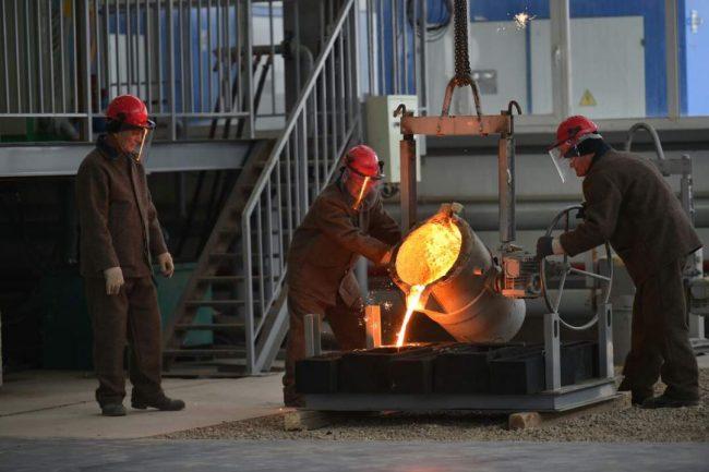 В Южном Казахстане в ходе телемоста запущен сталелитейный завод