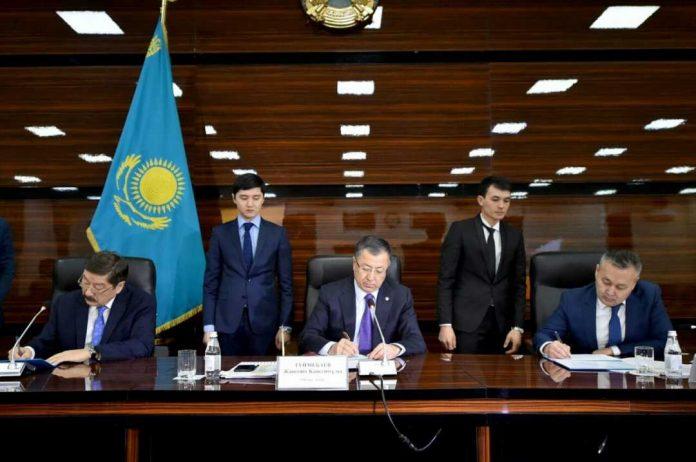 Церемония трехстороннего подписания плана мероприятий, проводимых в рамках проекта «Туркестан - культурная столица Тюркского мира»