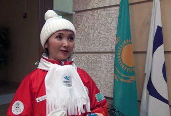 Сарбиназ Алдабергенова единственный представитель СМИ-Факелоносец