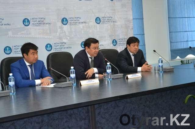 Руководители международного порта Актау
