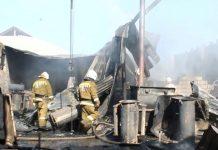 Пожар в микрорайоне Жалын