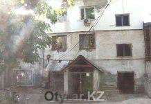 Аварийный дом в Шымкенте