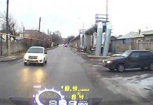 Фото места ДТП с регистратора