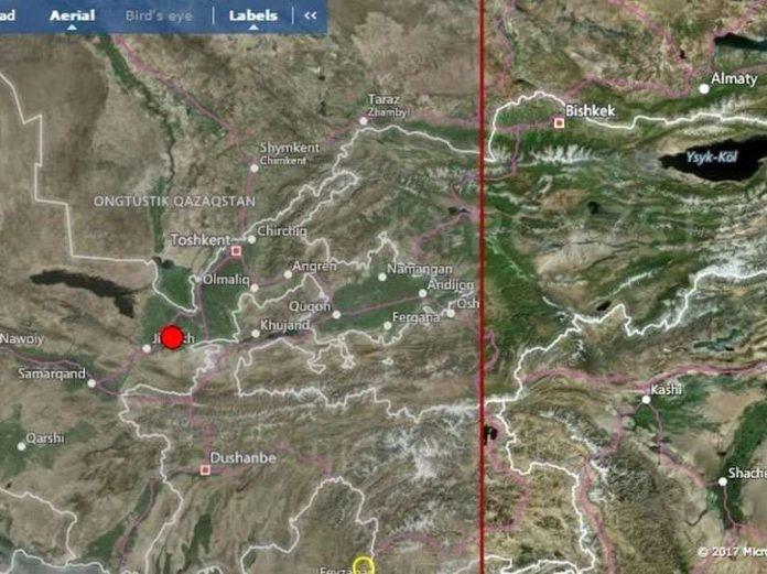Землетрясение магнитудой 4,2 произошло в 260 километрах от Шымкента