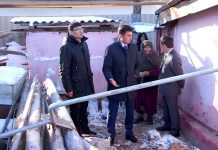 Габидулла Абдрахимов приехал на развалины дома