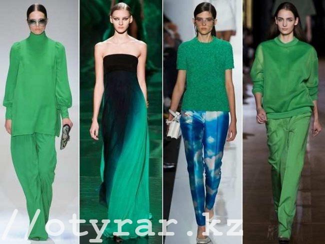 Девушки в зеленых нарядах