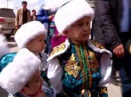 Самые маленькие гости Наурыза в Шымкенте