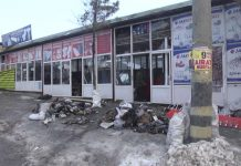 После пожара в торговом ряду