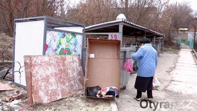 Новые мусорные контейнеры в Шымкенте