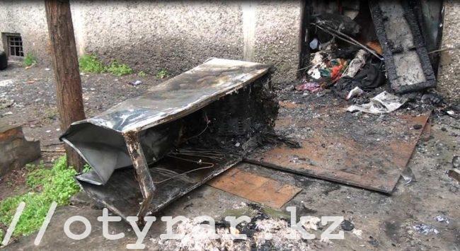 Пожар на улице Туркестанской
