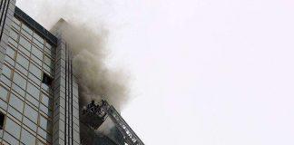 Учения пожарных в Шымкенте