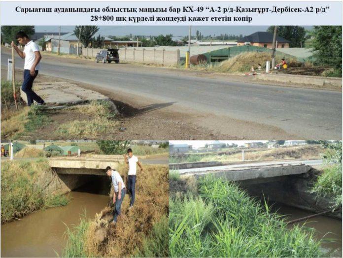 Ремонт мостов в ЮКО