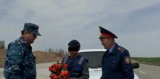 Задержан мужчина с тюльпанами