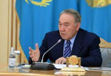 Нурсултан Назарбаев на сессии АНК