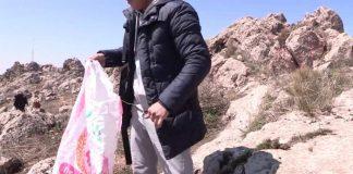 Гора Казыгурт зарастает мусором