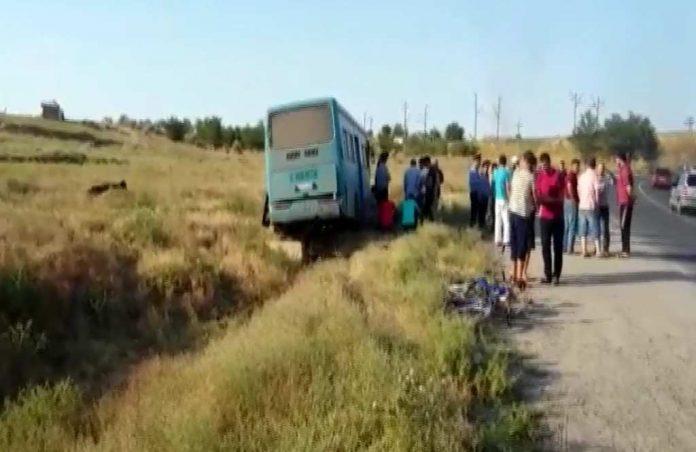 Место аварии автобуса