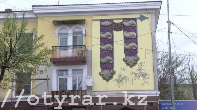 В Шымкенте продолжается ремонт фасадов
