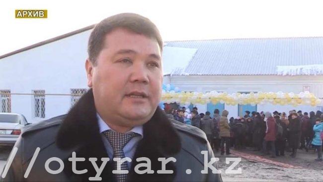 Бахадыр Нарымбетов на открытии спортивного зала