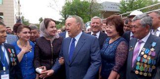 Назарбаев в Шымкенте