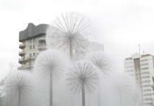 Запуск фонтанов в Шымкенте