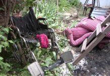 Пожар в поселке Турлан