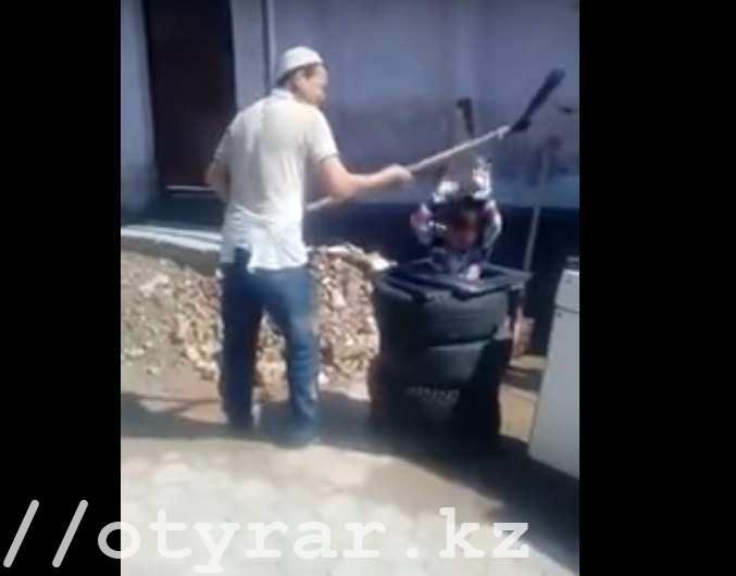 В Шымкенте найден герой ролика с избиением ребенка лопатой