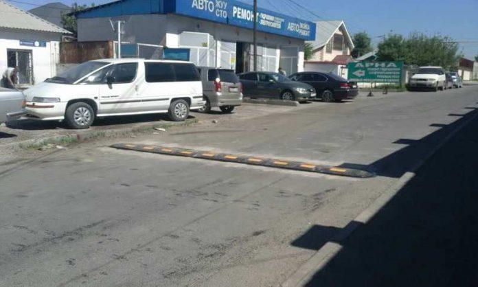 Лежачие полицейские в Шымкенте