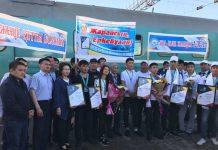 В Шымкенте встретили победителей чемпионата рабочих профессий