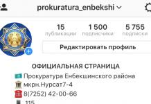 Прокуратура Енбекшинского района открыла официальную страницу в Instagram
