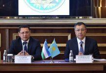 Аким встречается с узбекской делегацией