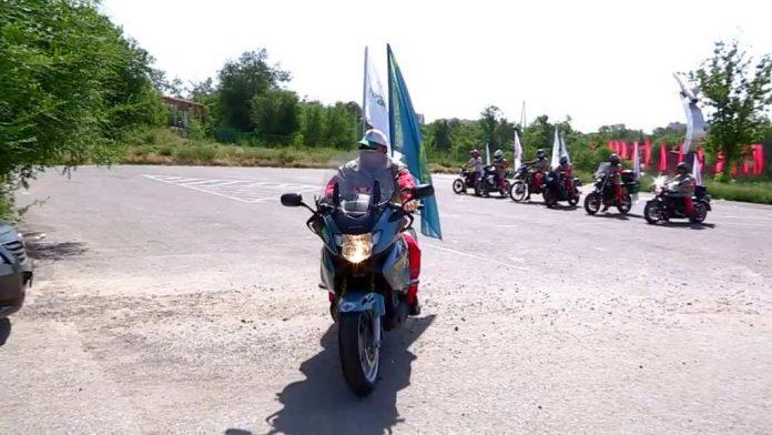 Байкеры Шымкента отправились в мотопробег по стране