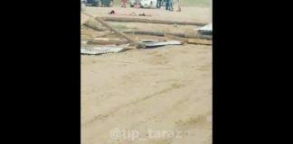 2 человека стали жертвами урагана в Таразе