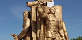 Памятник воинам в селе Атамура
