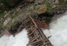 Старый мост в Сайрам-Угамском парке