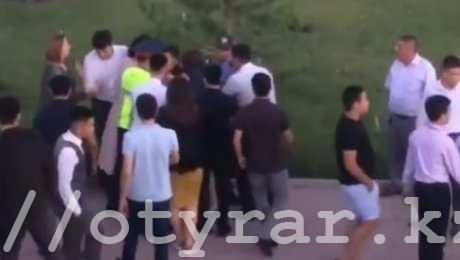 Потасовка выпускников в Шымкенте