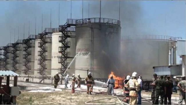 Пожар на нефтебазе в 2016 году