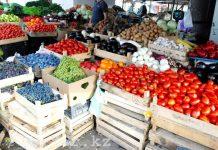 Фрукты и овощи на базаре
