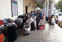 Багаж туристов в Турции