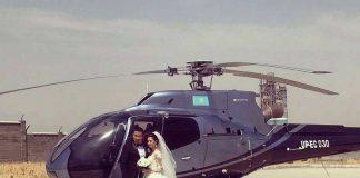 Заказать вертолет на свадьбу стоит около полумиллиона тенге