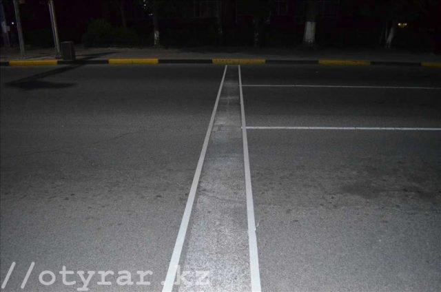 Как изменился перекресток в Шымкенте за одну ночь