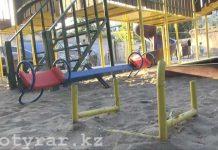 Строительная компания в Шымкенте возвела детскую площадку, опасную для жизни