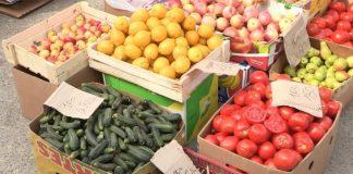 Овощи-фрукты на сельхозярмарке