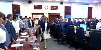 Министр труда и социальной защиты населения Тамара Дуйсенова находится с рабочим визитом в ЮКО