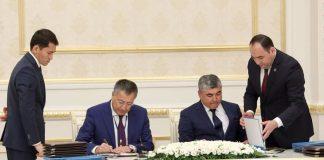 Аким ЮКО подписал меморандумы с главами двух областей Узбекистана