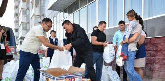 По случаю Курбан айта аграрии ЮКО раздали малообеспеченным семьям дыни и арбузы