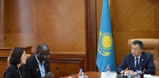 Аким ЮКО встретился с представителем Всемирного банка в Казахстане